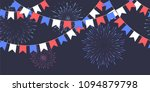 seamless garland with... | Shutterstock .eps vector #1094879798