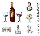 restaurant and bar cartoon... | Shutterstock .eps vector #1094880656