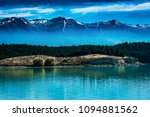 the landscape of the lake with... | Shutterstock . vector #1094881562