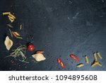 selection of spices herbs and... | Shutterstock . vector #1094895608