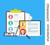 human resources  recruitment.... | Shutterstock .eps vector #1094909462