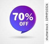 70  off discount sticker. sale... | Shutterstock .eps vector #1094910326