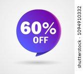 60  off discount sticker. sale... | Shutterstock .eps vector #1094910332