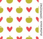 repeated silhouettes of apples... | Shutterstock .eps vector #1094932562