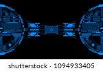 hud futuristic elements data... | Shutterstock .eps vector #1094933405