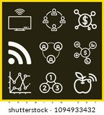 set of 9 connection outline...   Shutterstock .eps vector #1094933432