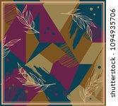 silk scarf patchwork pattern... | Shutterstock .eps vector #1094935706