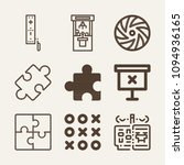 Set Of 9 Game Outline Icons...