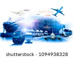 global business of container... | Shutterstock . vector #1094938328