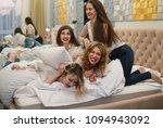 young girls friends fighting... | Shutterstock . vector #1094943092