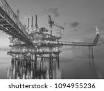 oil and gas offshore platform. | Shutterstock . vector #1094955236