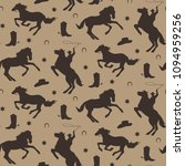 wild west vector seamless... | Shutterstock .eps vector #1094959256