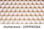 abstract white cubes box... | Shutterstock . vector #1094960366