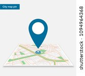 pin on the map | Shutterstock .eps vector #1094964368