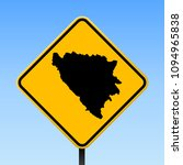 bosnia map road sign. square... | Shutterstock .eps vector #1094965838