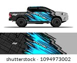 truck and car graphic... | Shutterstock .eps vector #1094973002