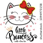 little princess cute cat... | Shutterstock .eps vector #1094973158