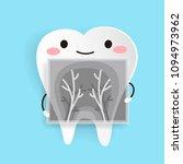 cute cartoon health tooth on... | Shutterstock .eps vector #1094973962