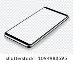 smartphone mockup perspective... | Shutterstock .eps vector #1094983595