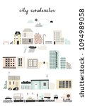 city constructor  old and... | Shutterstock .eps vector #1094989058