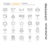 collection of summer thin line... | Shutterstock .eps vector #1094995988