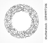 floral circle wreath with... | Shutterstock .eps vector #1094997146