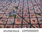 Aerial View Of Barcelona...