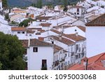 white houses in the andalusian... | Shutterstock . vector #1095003068