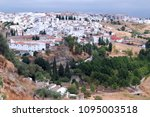 white houses in the andalusian... | Shutterstock . vector #1095003518