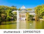 crystal palace or palacio de... | Shutterstock . vector #1095007025