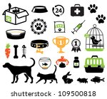 Stock vector pet icons collection 109500818