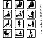 priority seating area signs | Shutterstock .eps vector #109501295