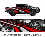 truck and car graphic...   Shutterstock .eps vector #1095012986