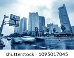 the city's tall buildings and... | Shutterstock . vector #1095017045