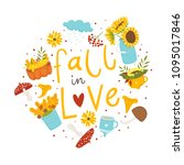 autumn card template with... | Shutterstock .eps vector #1095017846
