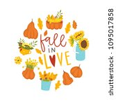 autumn card template with... | Shutterstock .eps vector #1095017858