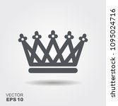 llustration of a crown in flat... | Shutterstock .eps vector #1095024716