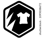 t shirt and shield. vector icon