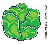 head of lettuce | Shutterstock .eps vector #10950460
