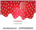color vector strawberry... | Shutterstock .eps vector #1095060002