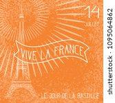 bastille day. july 14. concept... | Shutterstock .eps vector #1095064862
