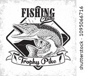fishing club vintage logo... | Shutterstock .eps vector #1095066716
