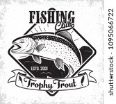 fishing club vintage logo... | Shutterstock .eps vector #1095066722