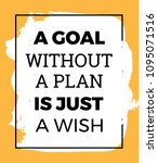 inspirational quote. a goal... | Shutterstock .eps vector #1095071516