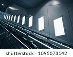 mock up posters blank media...   Shutterstock . vector #1095073142