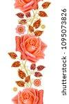 seamless pattern floral... | Shutterstock . vector #1095073826