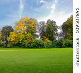 Autumn Landscape With Trees An...