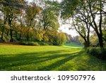 autumn park at sunset. the... | Shutterstock . vector #109507976