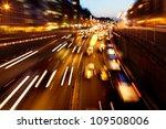 evening traffic. the city... | Shutterstock . vector #109508006