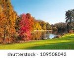 autumn landscape. park in... | Shutterstock . vector #109508042